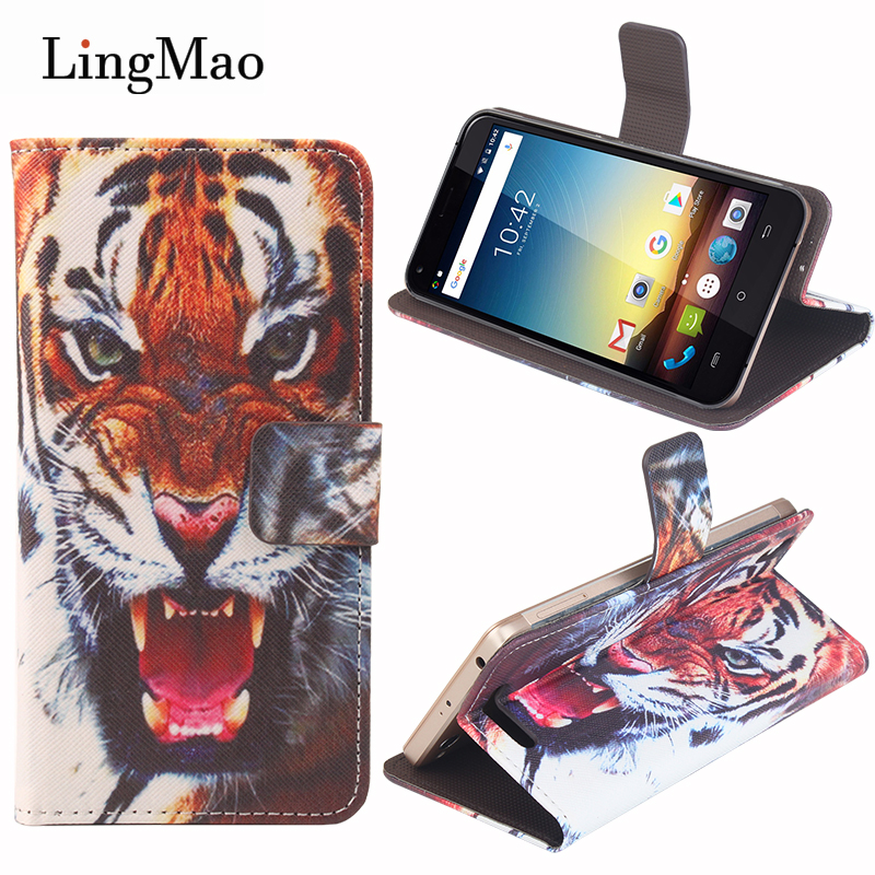 Phone Luxury Leather Case For Cubot Manito Case Cover 3D Tiger Pattern For Cobot GT72 90 Manito Mobile wallet holster