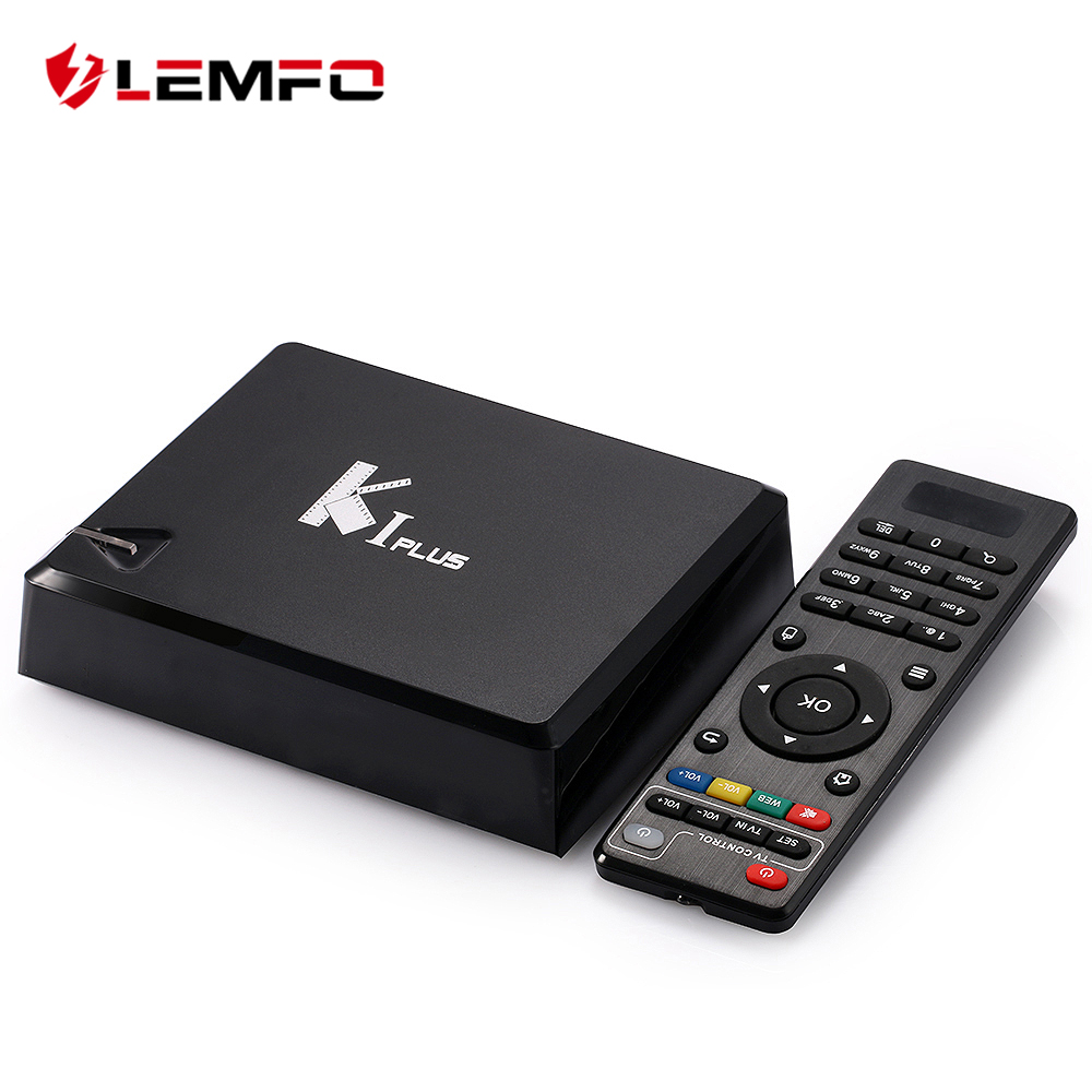 LEMFO K1 Plus S2 T2 Android 5.1 Smart TV Box Support 4K Bluetooth WiFi IPTV Amlogic S905 Quad Core 64Bit 1GB + 8GB Media Player original k1 plus s2 t2 android 5 1 tv box amlogic s905 quad core 64bit support dvb t2 dvb s2 1g 8g 1080p 4k tv box support ccamd