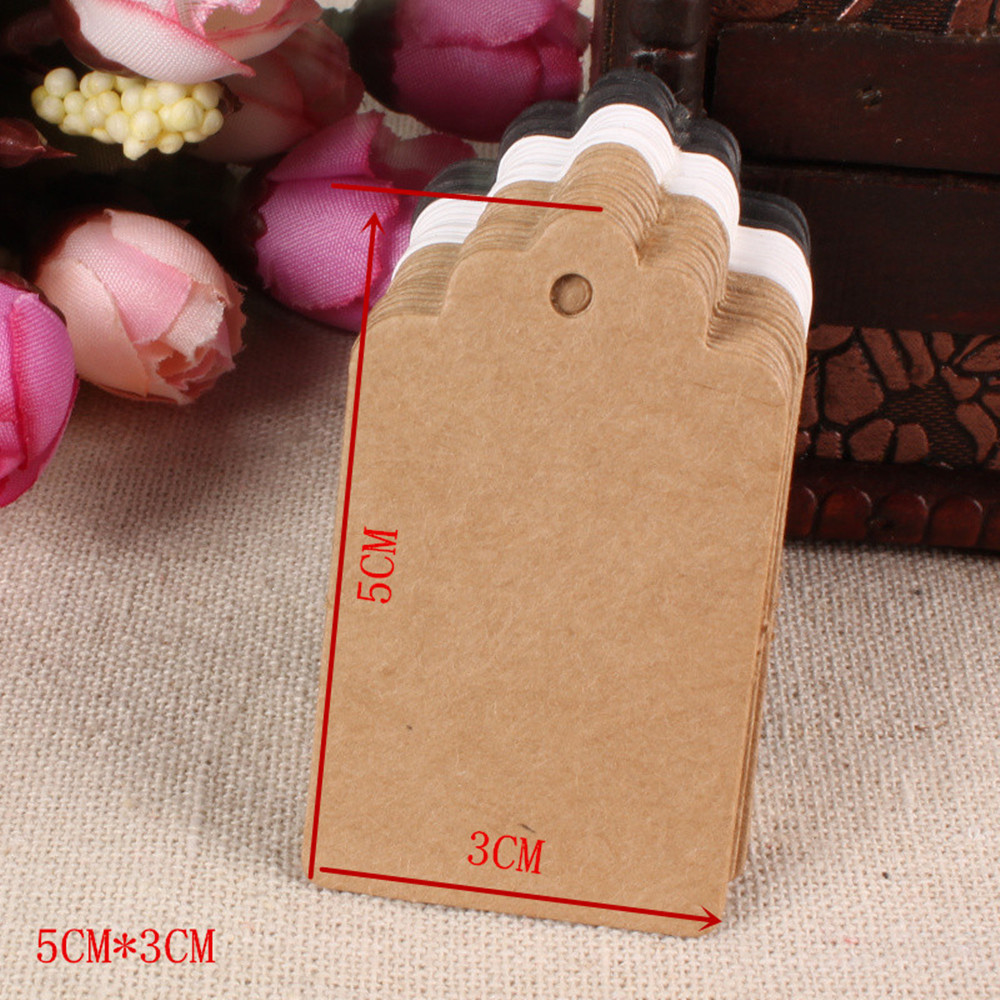 compare prices on diy gift cards online shopping buy low price 3 5cm kraft paper party gift cards tags for wedding decoration diy card