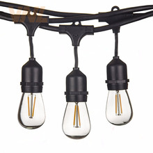 Светодиодный светильник VNL IP65 15 м, 15 лампочек, S14, s, E27, светодиодный ретро светильник Эдисона, лампа накаливания для улицы, сада, патио, праздника, свадьбы