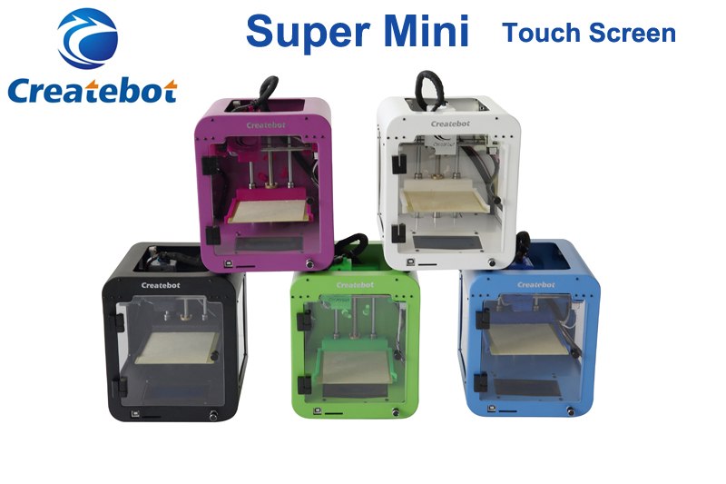 Createbot Super Mini 3d printer Metal 3d prnters Frame cheap  Children's imprimante 3d gift 1.75mm PLA Filament  impresora 3d high precision createbot super mini 3d printer no assembly required metal frame impresora 3d 1roll filament 1gb sd card gift