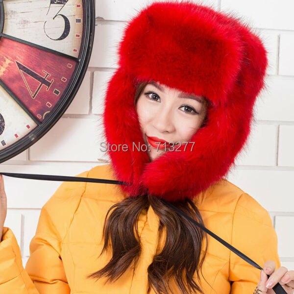 HT250 Frauen Plüsch Kunstpelz Gefüllte Warme Winter Ohrenwärmer - Bekleidungszubehör - Foto 6