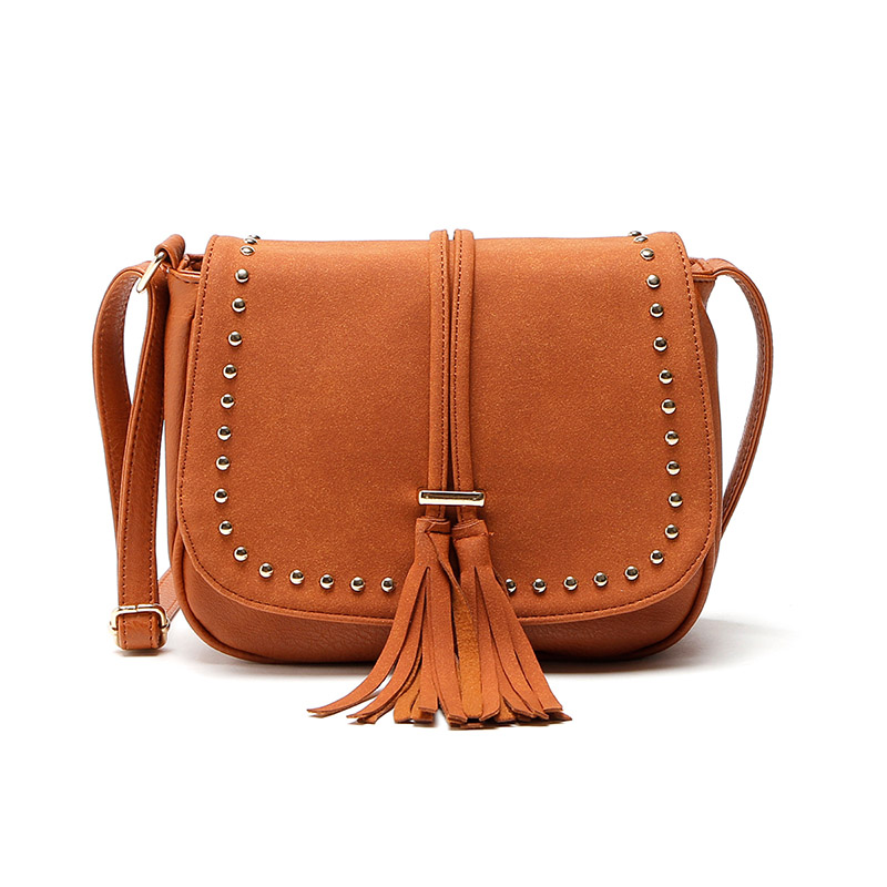 Women Vintage Tassel Bag PU Leather Messenger Bag Rivet Crossbody Shoulder Bags Women Handbag Bolsas Femininas Hand bags стоимость
