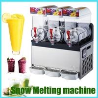 Snow Melting machine/Three Tank Slush Machine/Cold Drink Maker/Smoothies Granita Machine/Sand ice machine 1pc 110V/220V XRJ15X3