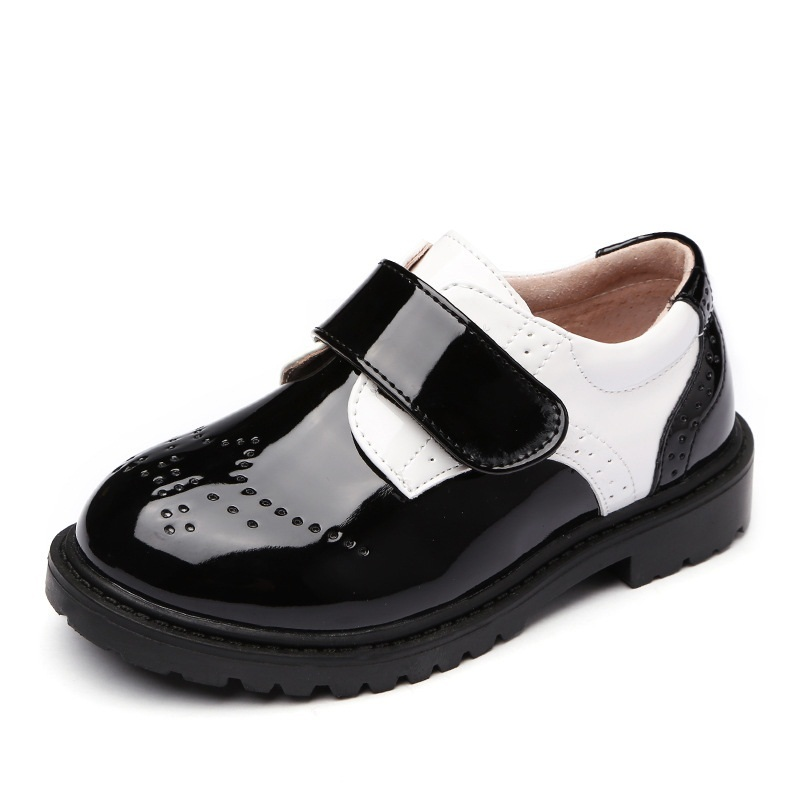 Kids Leather Wedding Dress Shoes For