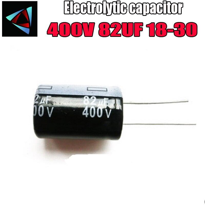 Higt Quality 400V 82UF 18-30mm 82UF 400V 18*30 Electrolytic Capacitor