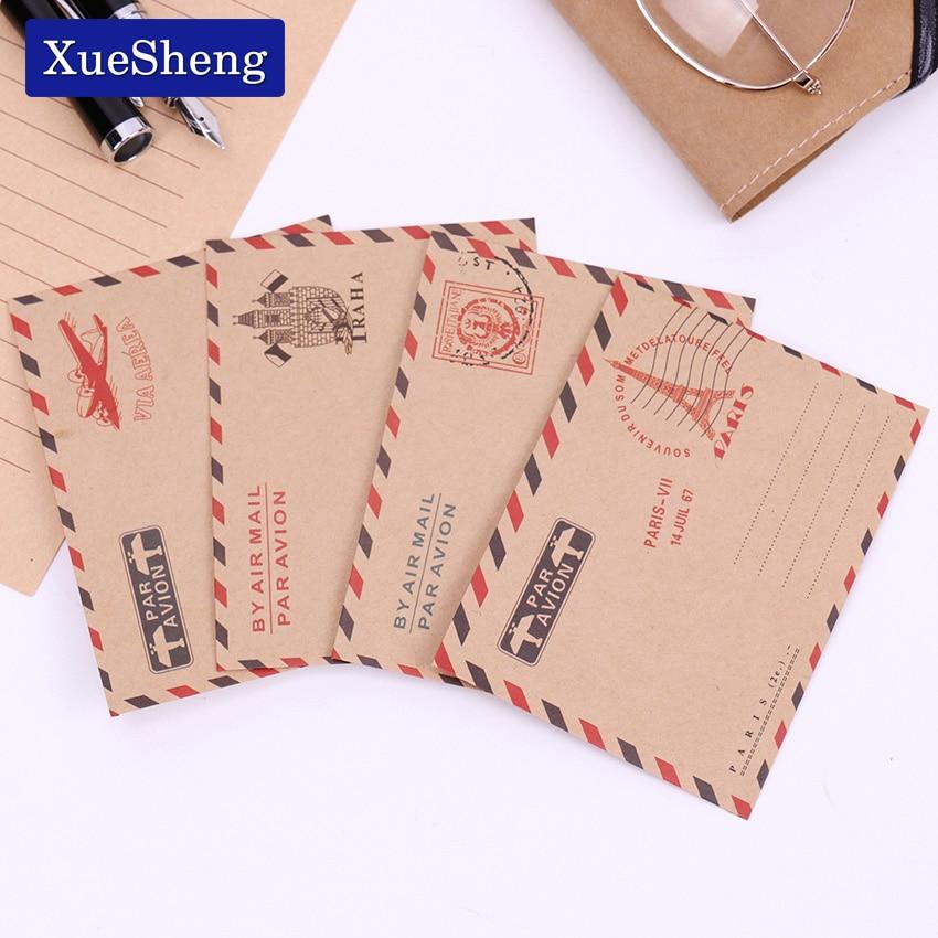 10 шт. Винтаж Париж Мини бумажные конверты Kawaii Свадебная вечеринка приглашение поздравительные открытки подарок