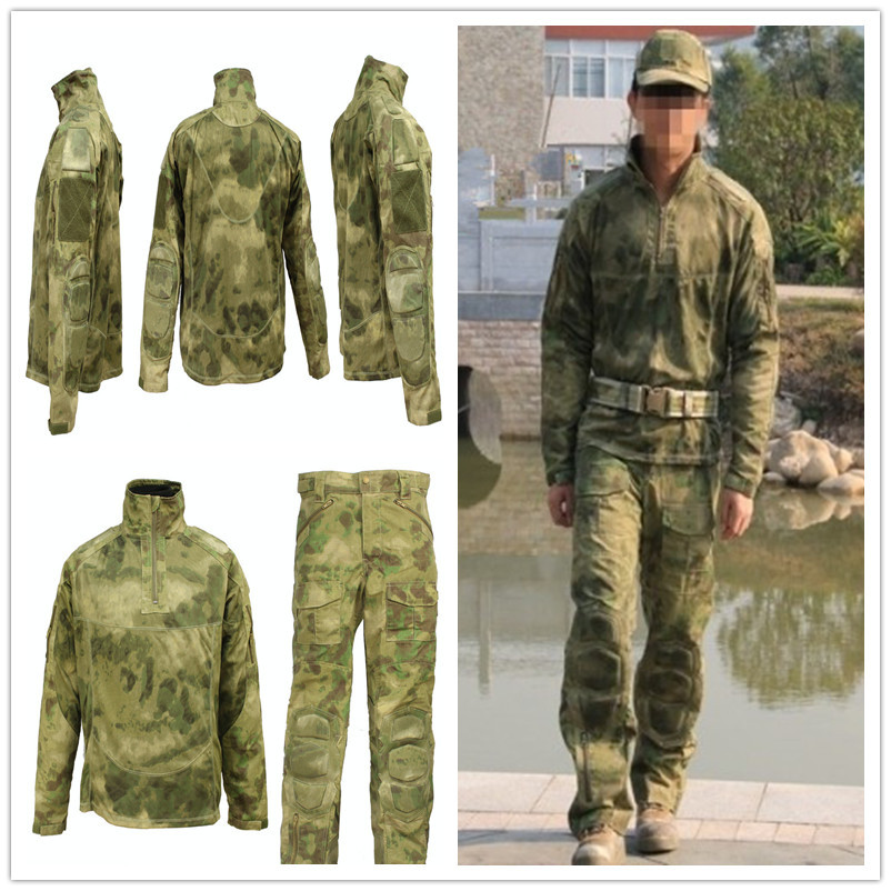 Tactical Military Clothing, Camouflage Suit, Combat Shirt and Pants With Knee Pads Paintabll Militari Equipment, Hunting Clothes outdoor tactical mens hunting clothing military combat hunting clothes army camouflage tatico pants with knee pads ghillie suit