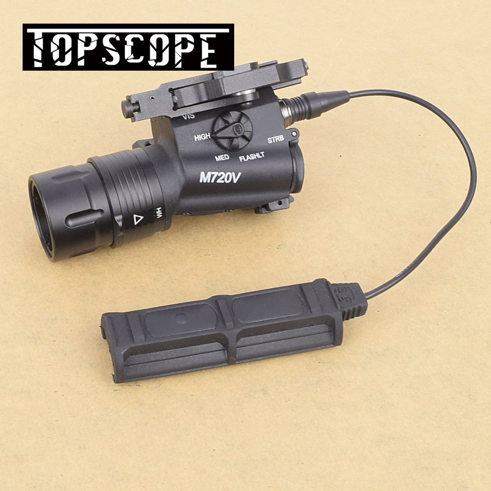 M720V Airsoft Tactical Flashlight Strobe Version Tactical Gun Light Weapon Light