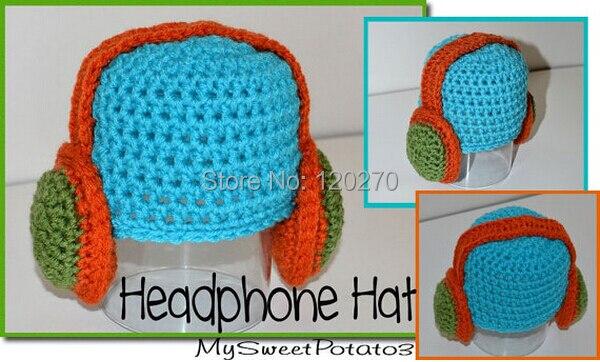 100 Handmade Crochet Baby Boys Headphone Pattern Hat Infant Toddler