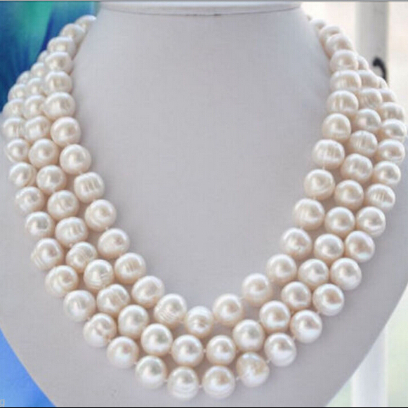 bjc 00006 WHITE BAROQUE SOUTH SEA PEARL NECKLACE