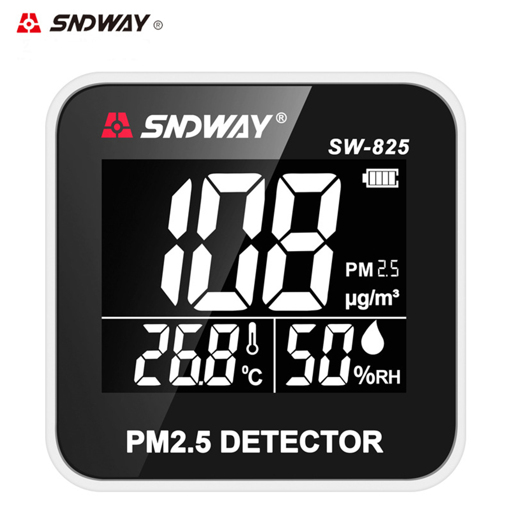 SNDWAY Digital Air Quality Monitor Mini PM2.5 Detector Monitor Gas Analyzer Temperature Humidity Tester Diagnostic tool digital indoor air quality carbon dioxide meter temperature rh humidity twa stel display 99 points made in taiwan co2 monitor