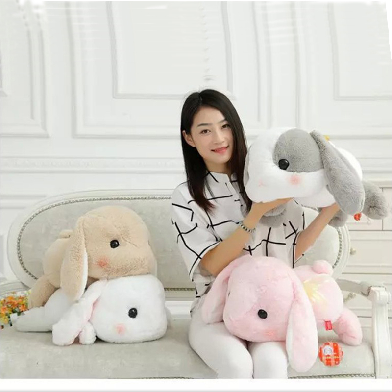 50cm Cute Rabbit Dolls Plush Classical Lying Bunny Rabbit Toy Kawaii Plush Pillow for Kids Friend Girls stuffed animal 120 cm cute love rabbit plush toy pink or purple floral love rabbit soft doll gift w2226