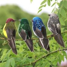 1pc falso artesanato pássaros penas de espuma artificial mini pássaro, decoração mesa de mariage, decorações de festa de aniversário crianças, casamento
