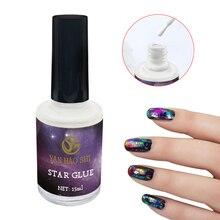 Горячая 1 шт. 15 мл клеевой гель для ногтей Galaxy Star Клей для наклейки из фольги для переноса Советы DIY wyt77