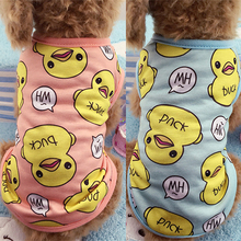 Pet-Dog-Clothes T-Shirt Vest Spring Puppy-Cat Dogs Small Chihuahua Summer Cute for Duck-Printed