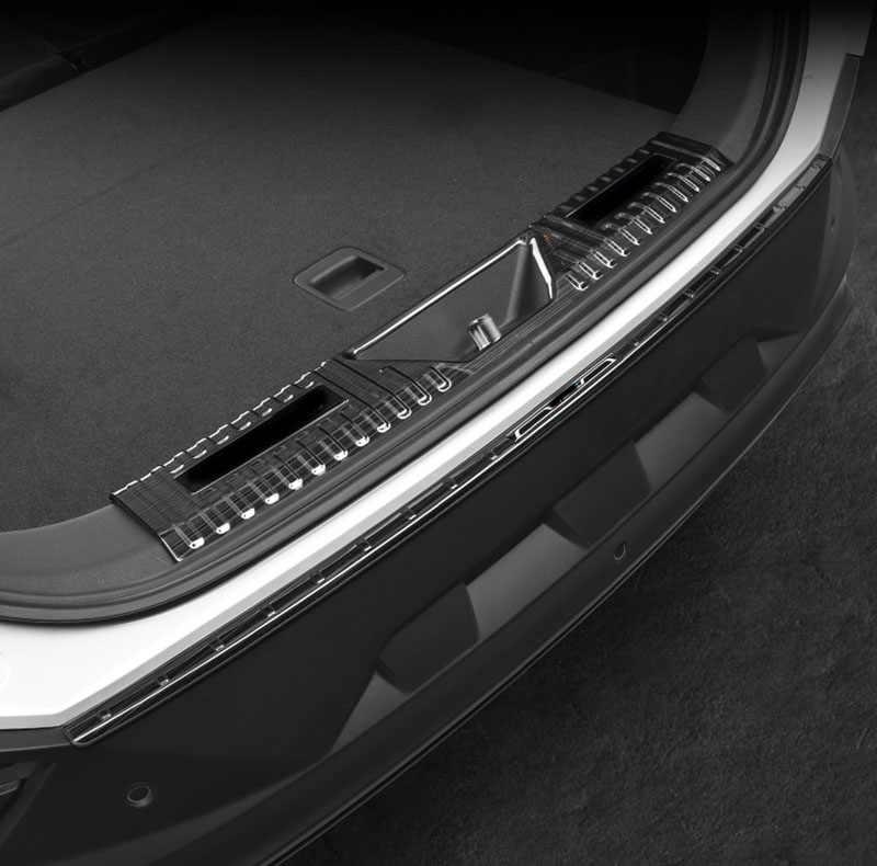 أسود البند ل الفاو Besturn T77 2019 جذع الحرس لوحة الفولاذ المقاوم للصدأ الغطاء الواقي Aliexpress