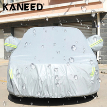 Крышка автомобиля Открытый Универсальный Anti-Dust Водонепроницаемый Непроницаемый Для Солнечных Лучей 3-купе Седан S/M/L/XL/XXL/XXXL покрытие автомобиля с Предупреждающие Полосы