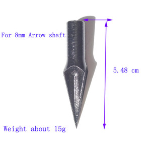Image 5 - 6個アーチェリー矢印黒ブロードヘッド合金鋼矢印ヒントクロスボウ撮影目標点232Gr矢じり伝統的なブロードヘッド
