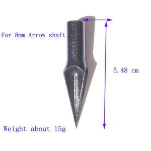 Image 5 - 6pcs Archery Arrow Black Broadhead Alloy Steel Arrow Tips Crossbow Shooting Target Point 232Gr Arrowhead Traditional Broadhead