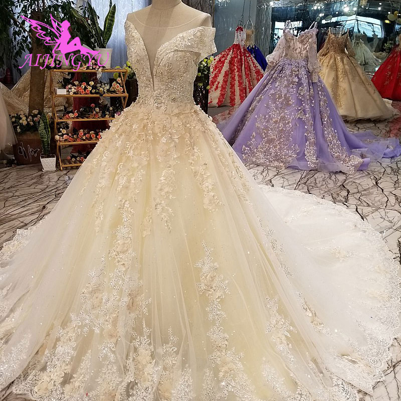 Cheap Wedding Gowns.Us 296 0 Aijingyu Korean Wedding Dress Summer Gowns Discounts 2018 Princess Informal White Bridal Gown Wedding Bolero Lace Ivory Long In Wedding