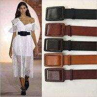 Phong cách hoang dã đơn giản đầu tiên lớp da nữ eo wide belt waistband phụ nữ Mở Rộng 5.5 cm thời trang Da Bò nguyên chất vành đai trang trí