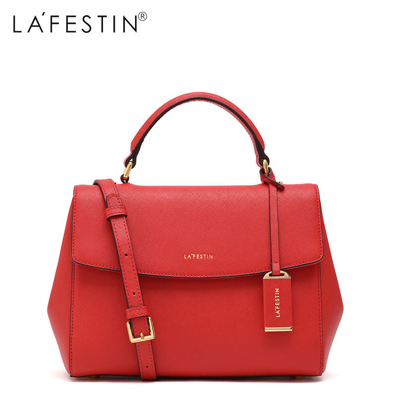 LAFESTIN Soild Handbag Real Leather Shoulder Bag 2017 Fashion Women Designer Bags Crossbody Luxury brands Bag bolsa lafestin luxury shoulder women handbag genuine leather bag 2017 fashion designer totes bags brands women bag bolsa female