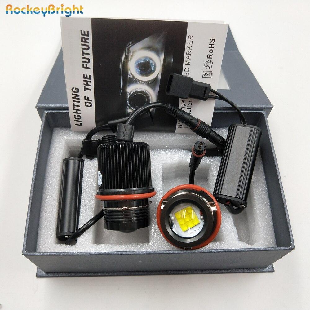 Rockeybright canbus E39 led angel eyes headlight marker for BMW X3 E83 E53 E63 E64 E60 E61 E39 E87 led marker bulb angel eyes