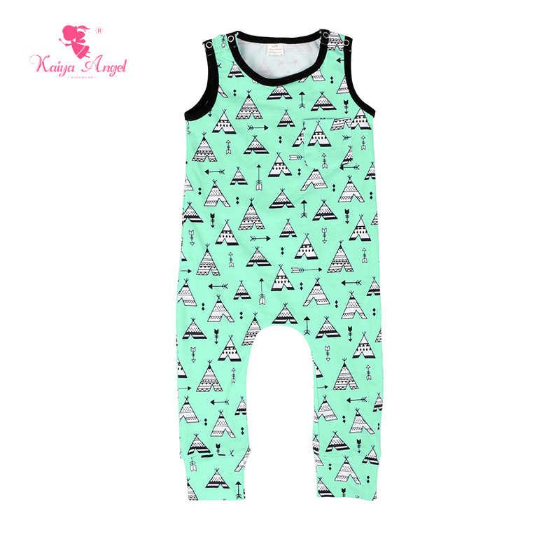0c5a16c71 ... Kaiya Angel 2018 Hot baby Boys rompers summer black sleeveless letters  printing clothes kids boutique clothing