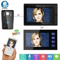 7 Wired Wifi Video Doorbell Intercom Kit Set IR HD 720P Camera 2 Touch Screen Two