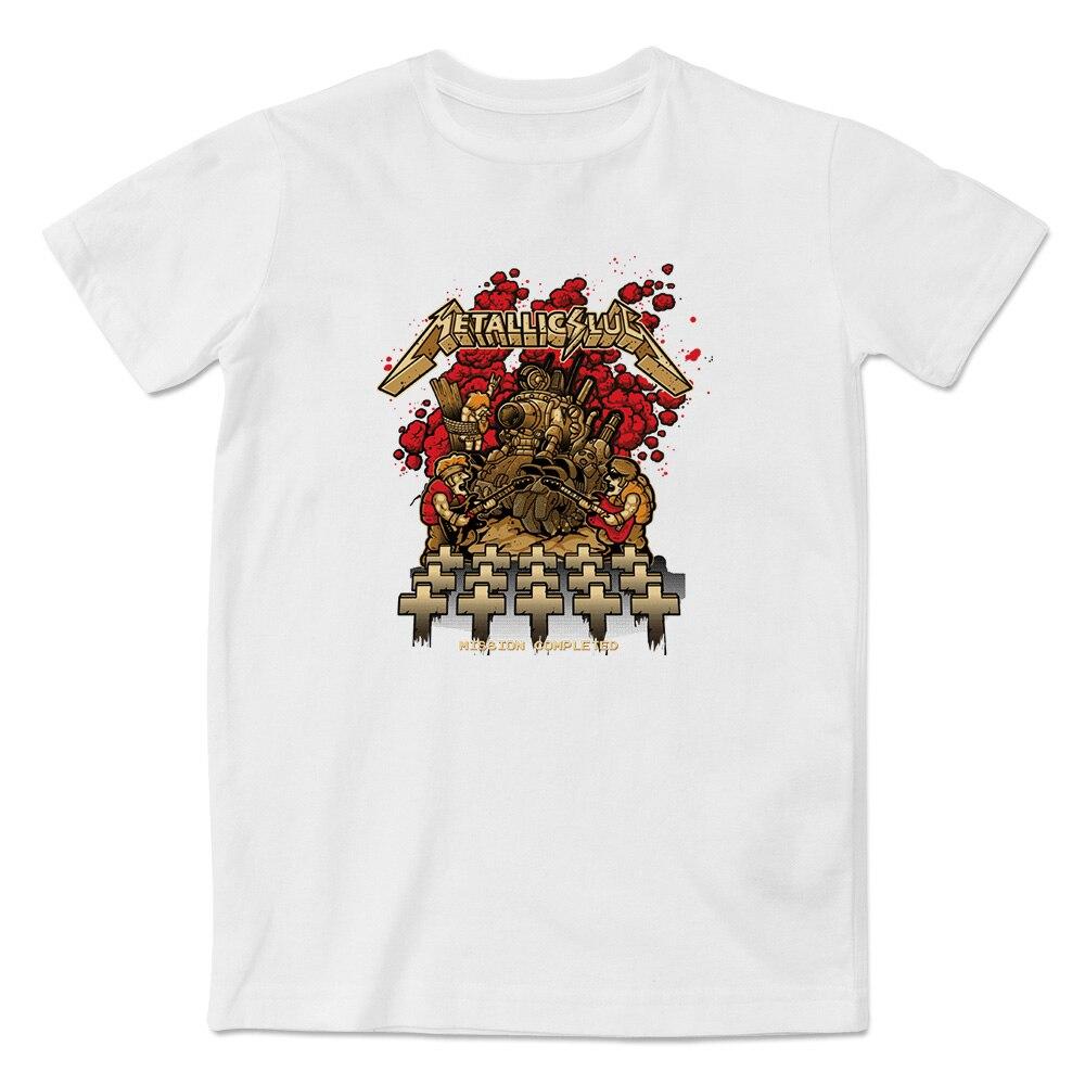 Design t shirt games online - Metallic Slug T Shirt Cool Skate Rock Video Game T Shirt Design Print Style Fashion