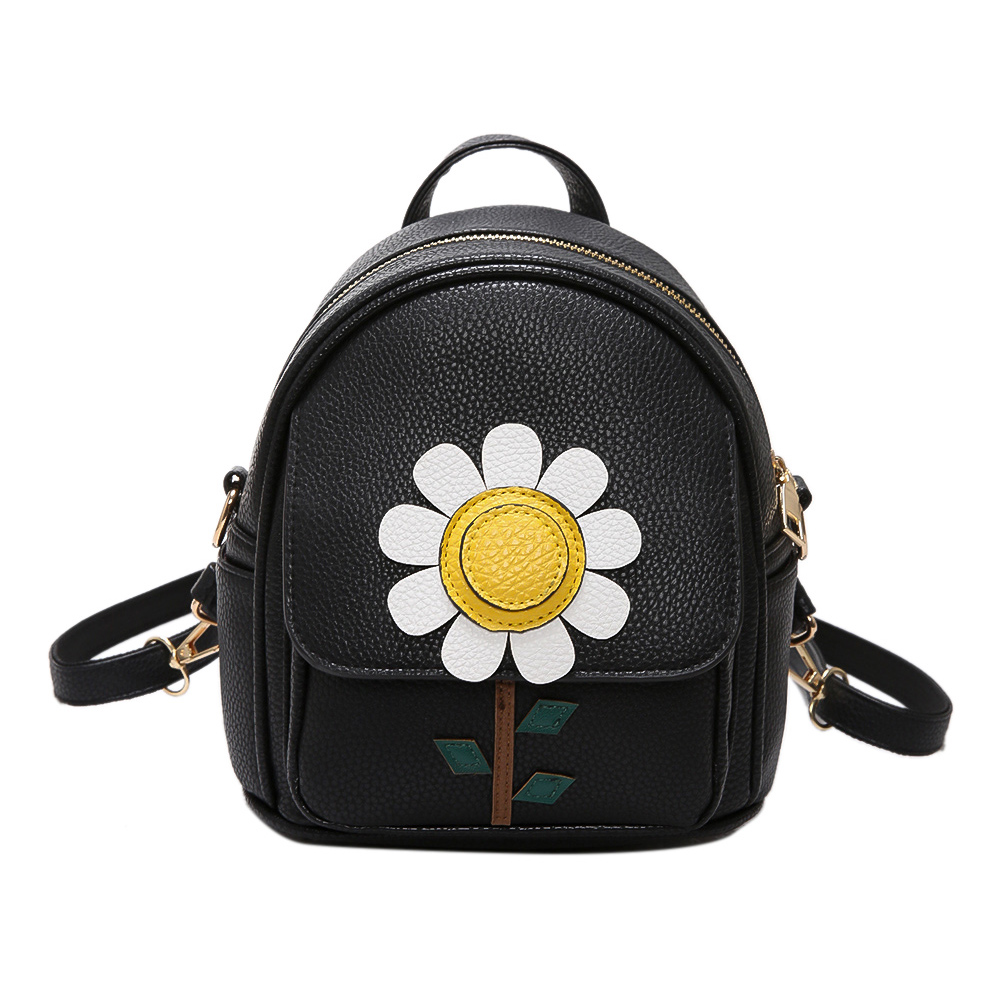 New Fashion PU Leather Flowers Backpacks For Women Mini Bags For Teenagers Girls Backpack Student Sweet Lady School Bag Mochila retail 1pc 2015 new children backpacks hello kitty school bags sweet bows pu leather school backpacks for girls mochila escolar
