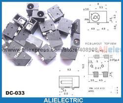 500 sztuk 4pin SMD 3.5mm x 1.3mm gniazdo DC Jack płytka PCB wtyczka zasilania lutowania