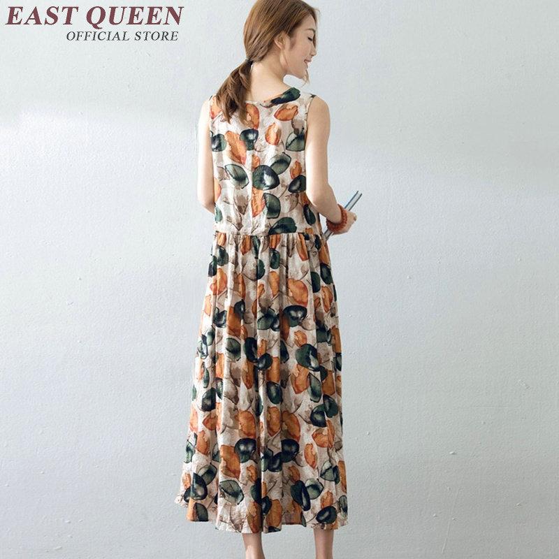 0598ebf82a2 Vintage floral print beach sundresses casual A line long sundresses ...