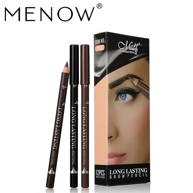 MENOW 3 Colors Black Eyeliner Pencil for Women Waterproof Brown Eyebrow Eye Liner Pencils Makeup Tools Wholesale & Dropshipping