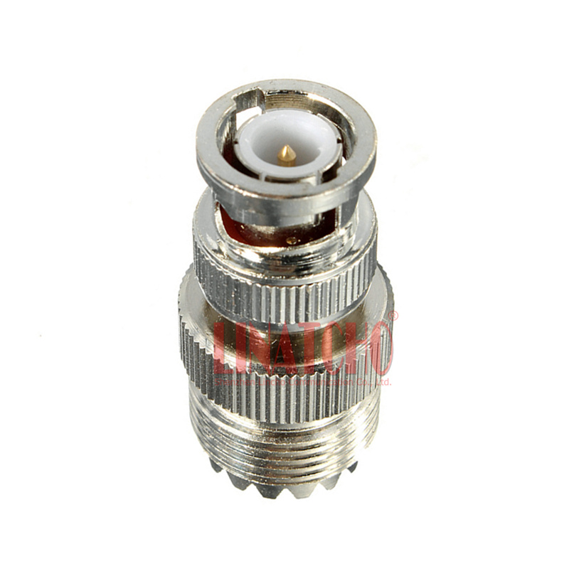 10 pcs 50 ohm straight pl259 uhf female to bnc male adaptor Connector for Two-way Radio and Cable Extension