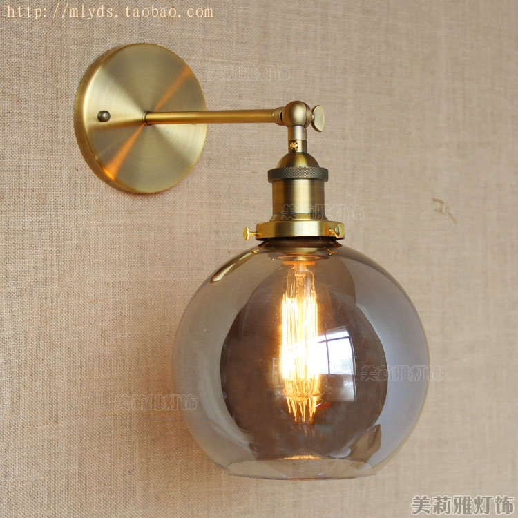 American retro loft style industrial wall light fixtures for Vintage lampen