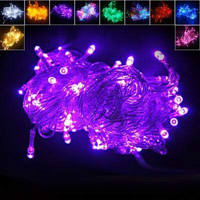 Holiday Outdoor 100 LED String Lights 10M 110V/220V Christmas Xmas Wedding Party Decorations Garland Lighting