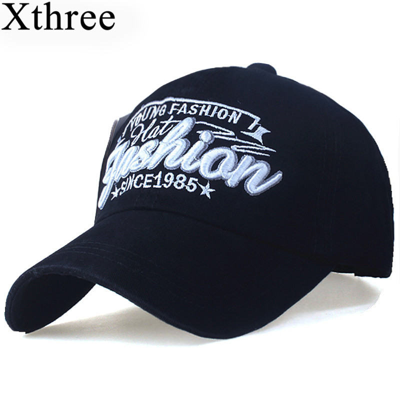 XTHREE fashion Letter embroidery men's cotton Baseball Cap women snapback hat Casual caps Summer Hat for men cap xthree fashion baseball cap summer snapback hat letter embroidery casquette hat for men women cap wholesale