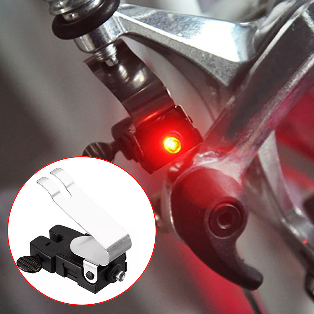 1Pc Mini Travel CR1025 Battery Wheel Spokes Bike Brake Light Mountain Bicycle Led Light Limited Real Cycling Accessories