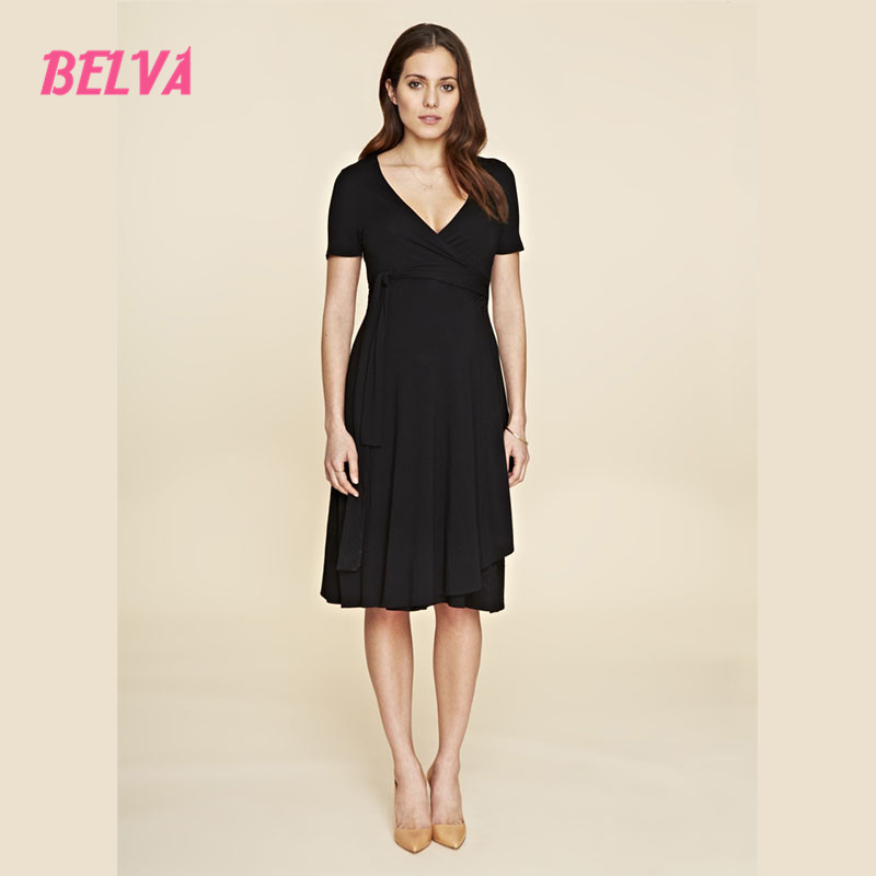 ФОТО Belva Comfortable Bamboo Fiber woman pregnancy clothes Black maternity dress for photo shoot pregnant clothing sale DR186