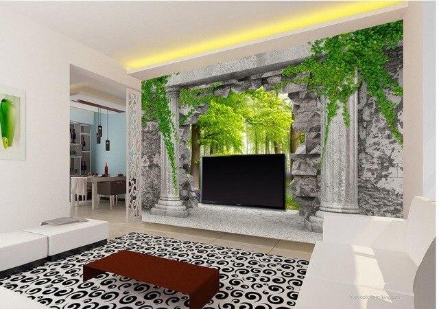 Carta Parati Classica Toile Elegance: Murale 3d Papier Peint 3d Papiers Peints Pour TV Toile De
