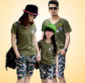 Matching mother Daughter Clothes T-shirts Sport Suits Cotton Short Sleeve Shirt+Pants Family Look Matching Set Summer Style MB10