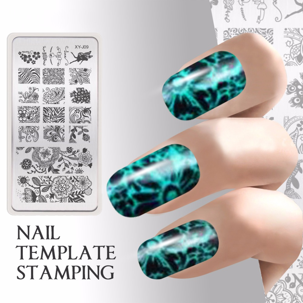 Online Shop Easy Reusable Stamping Nail Plate Butterfly Flower ...