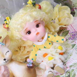 Image 5 - 1/12 BJD 26 Joint Body 14CM Mini doll DODO ob11 doll with outfit shoes makeup dolls and box combination Set gift toys