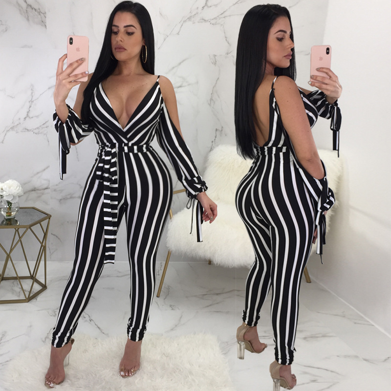 Jumpsuits For Women 2018 Amazon Stripe Rompers Womens Jumpsuit Sexy