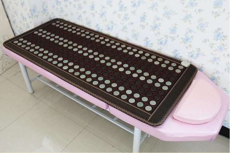 Health care heating jade cushion Natural tourmaline mat physical therapy mat heated jade mattress 4 Size available best selling korea natural jade heated cushion tourmaline health care germanium electric heating cushion physical therapy mat
