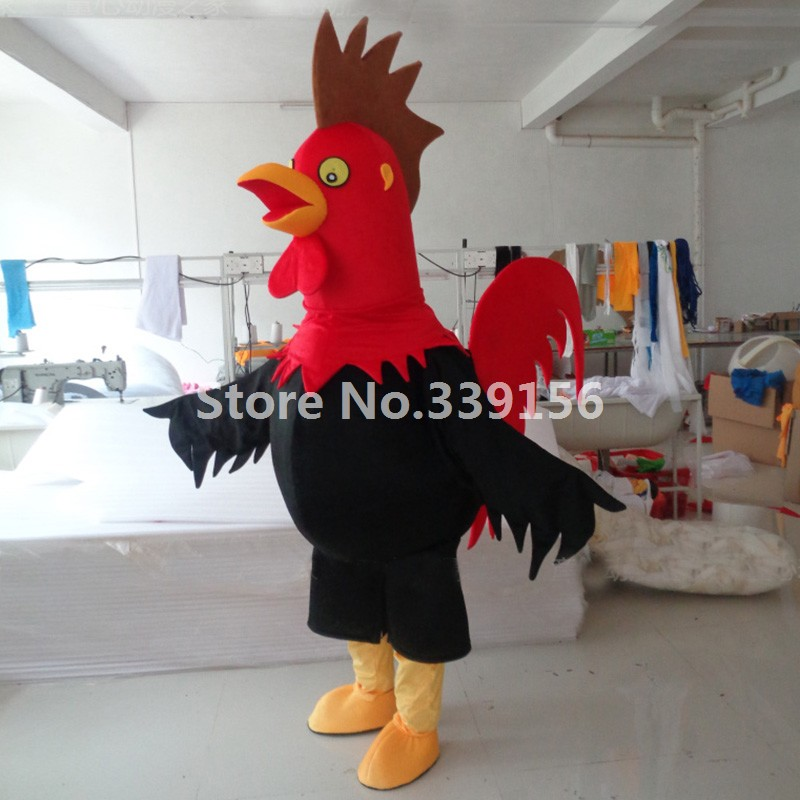 High Quality Chicken Adult Rooster Plush Mascot Costume Christmas Rooster Cartoon Carnival Parade Costumes