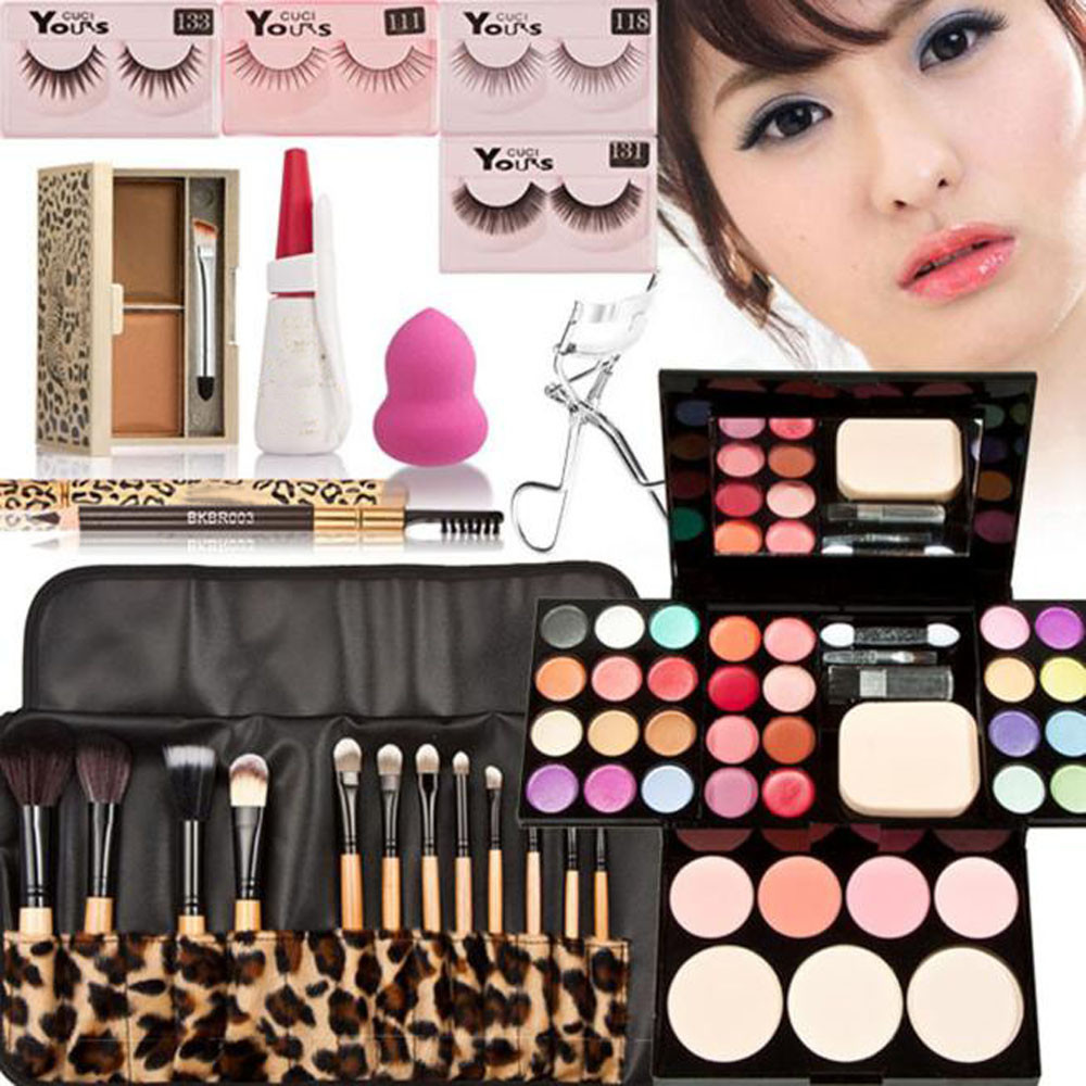 Makeup Kits Gift Set Eyeshadow Foundation Blusher Powder Lip Gloss 12PC Brushes May19 Fashion OutTop Drop Shipping