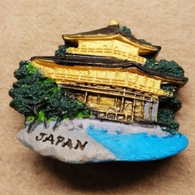 Japan Kyoto Golden Pavilion Temple 3d solid resin refrigerator